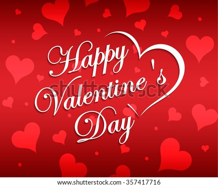 beautiful lettering calligraphy white text with a shadow calligraphy inscription happy valentines day hearts boke - Happy Valentines Day Text