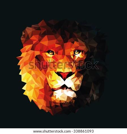 beautiful lion king of beasts