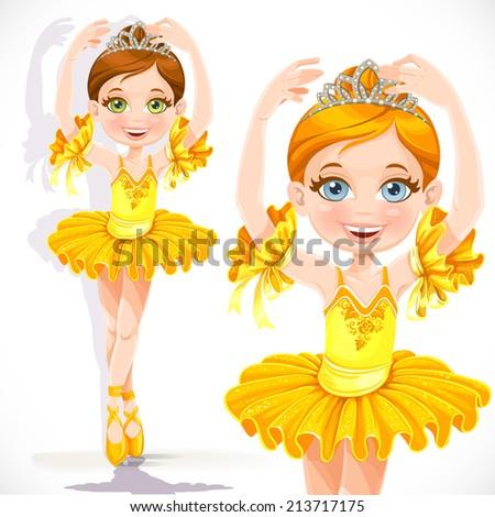 beautiful little ballerina girl