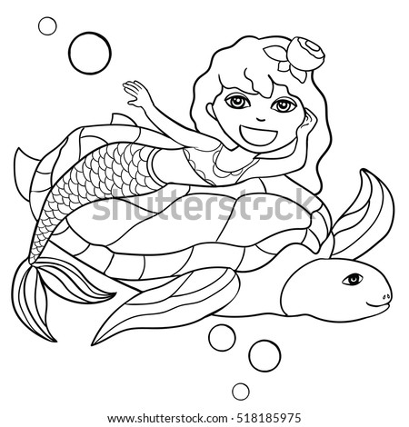 beautiful little mermaid and