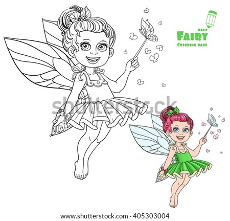 beautiful little summer fairy