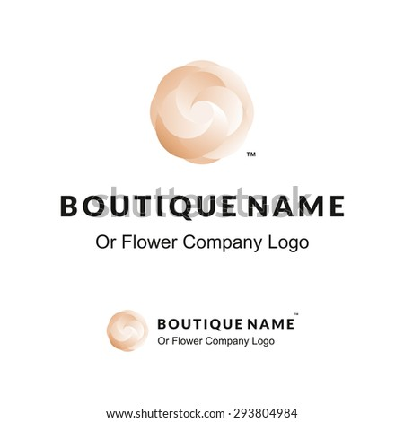 beautiful logo with flower for