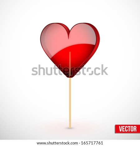 beautiful lollipop with heart