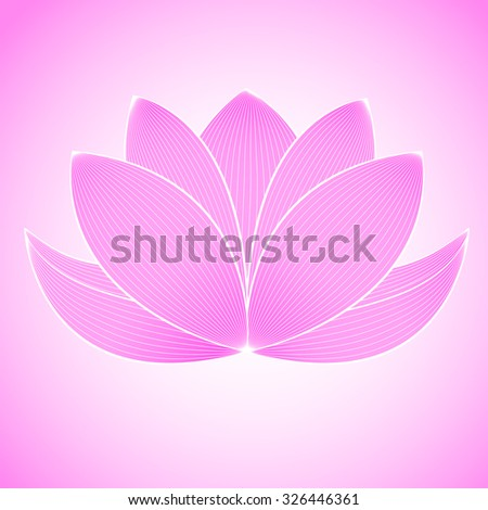 beautiful lotus flower line