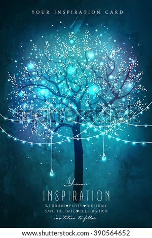 beautiful magic tree with