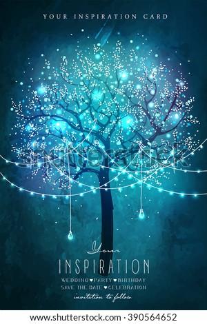 beautiful magic tree with