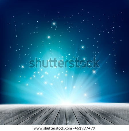 Beautiful magical night background. Vector. #461997499