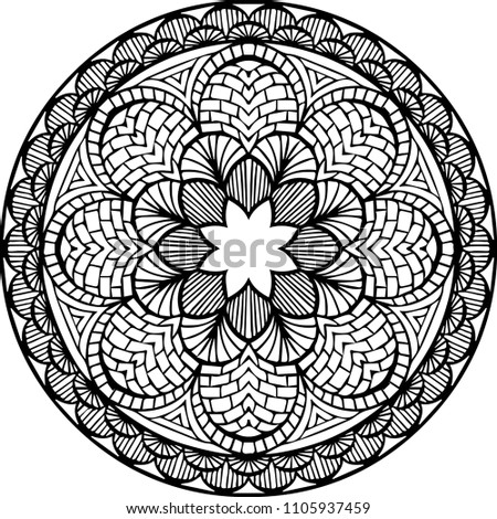 Beautiful Mandala Pattern Creative Ornament Repeating Art For Background Can Be Used As