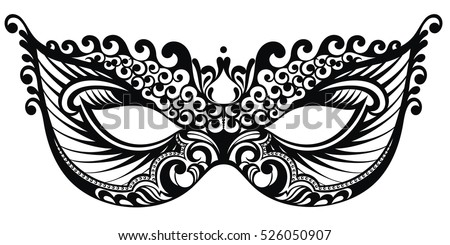 Beautiful Mask Of Lace Mardi Gras Vector Background
