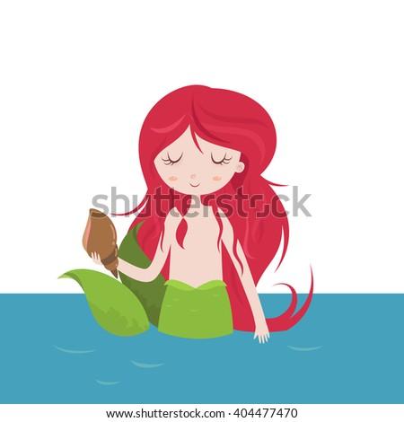beautiful  mermaid cartoon