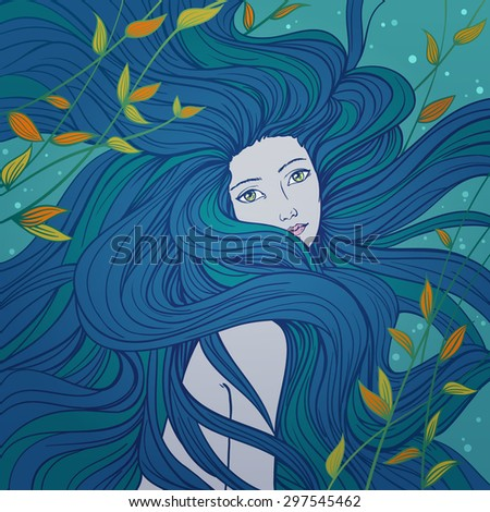 beautiful mermaid with