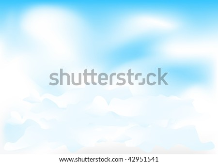 Beautiful meshes clouds on the blue sky - stock vector
