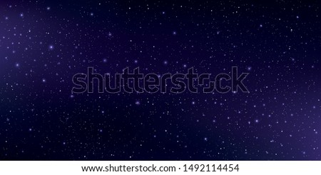 Beautiful milky way galaxy background with nebula cosmos. Stardust in deep purple universe and bright shining stars in universe. Vector illustration.
