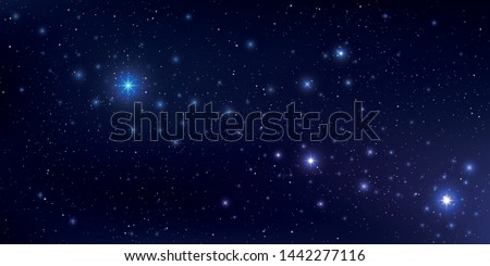 Beautiful milky way galaxy background with nebula cosmos. Stardust in deep universe and bright shining stars in universe. Vector illustration.