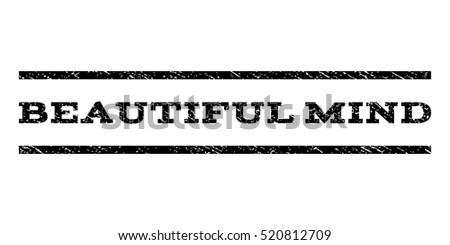 beautiful mind watermark stamp