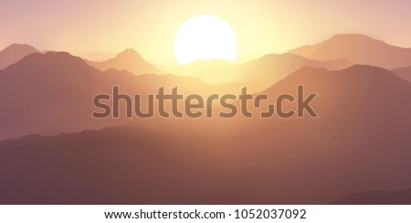 beautiful morning landscape a