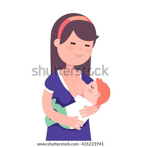 beautiful mother breastfeeding