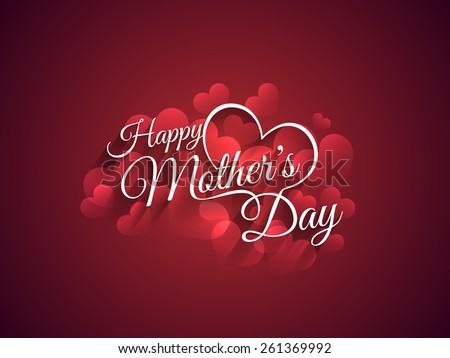 Beautiful mother\'s day Background design.