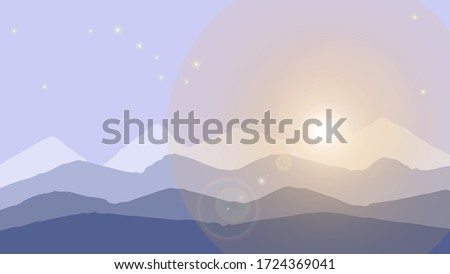 beautiful mountain snowy