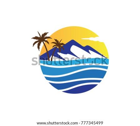 beautiful mountains palm