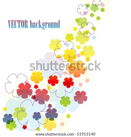 Beautiful multicolor background. Vector 10 eps