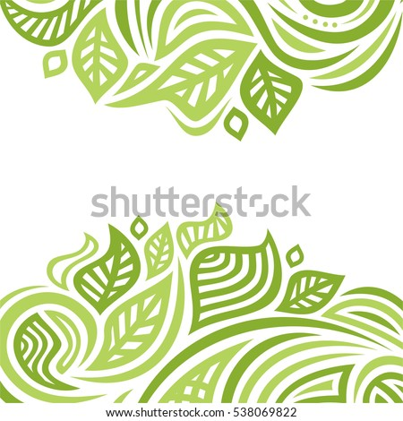 stock-vector-beautiful-nature-background-of-leaves-vector-illustration