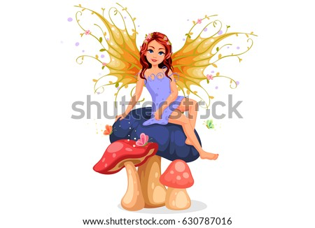 beautiful nature fairy sitting