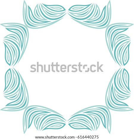 beautiful nature frame vector