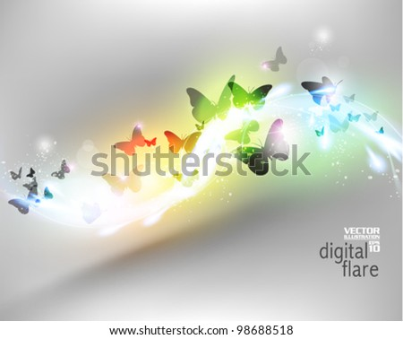 beautiful neon butterfly flare