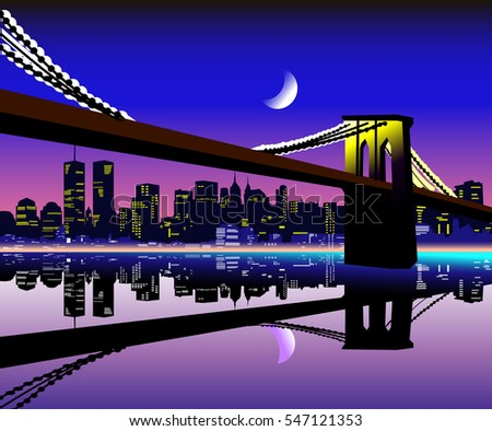 beautiful new york city night