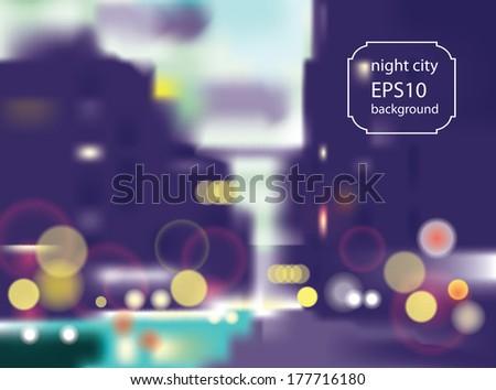 beautiful night european city