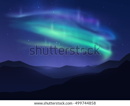 beautiful northern lights in