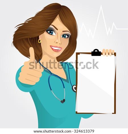 beautiful nurse or female