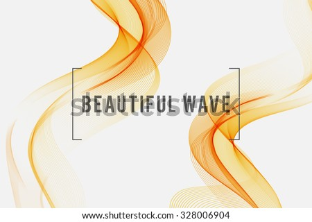 beautiful orange smoke waved