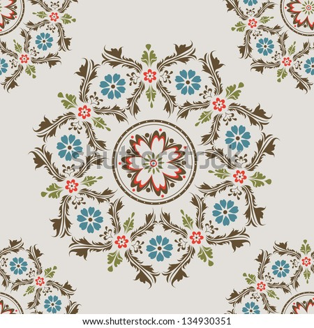 Beautiful orient style seamless pattern