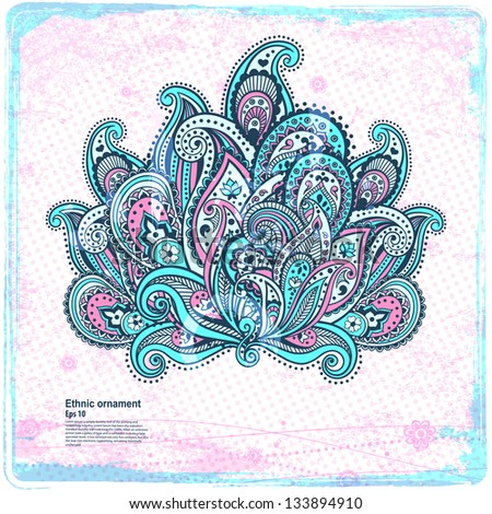 Beautiful paisley ornament