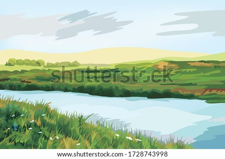 beautiful panorama view of the