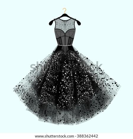 beautiful party dress black