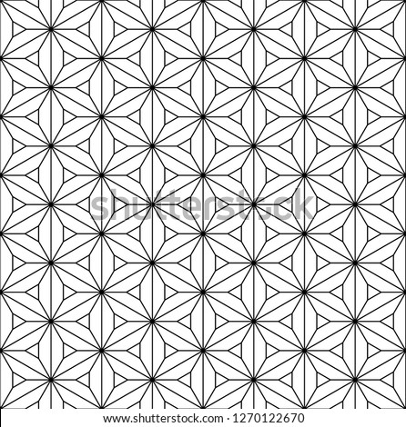 Beautiful pattern japanese shoji kumiko, great design for any purposes. Japanese pattern background vector. Japanese traditional wall, shoji.Fine lines.