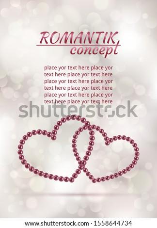 beautiful pearl heart symbol