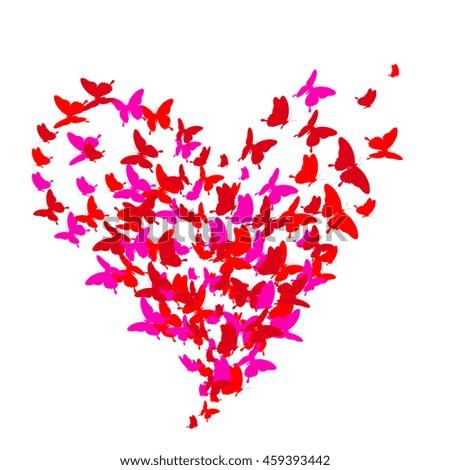 beautiful pink butterflies