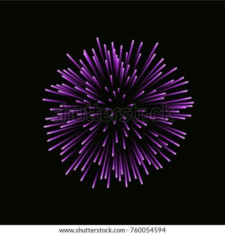 beautiful pink firework bright