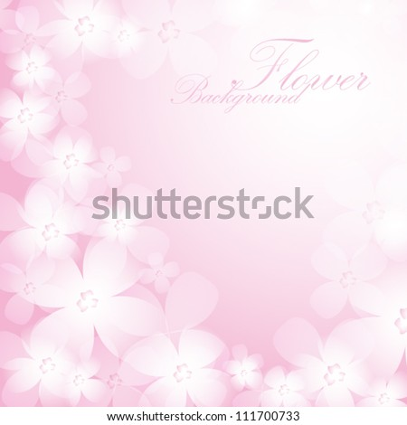 Beautiful pink flower background. EPS10 vector.