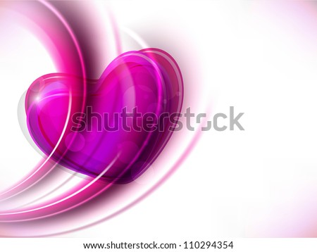 Beautiful Pink Valentine Heart. EPS 10. - stock vector