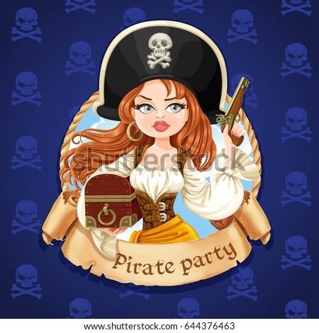 beautiful pirate girl with