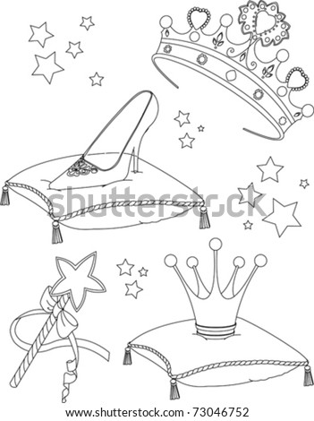Beautiful princess Collectibles coloring page