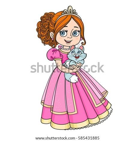 beautiful princess holding