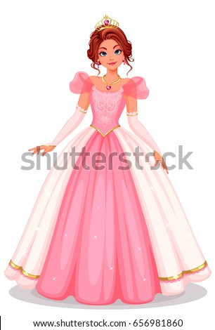 beautiful princess standing in