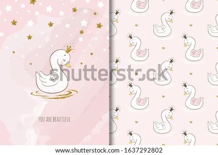 beautiful princess swan bird