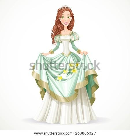 beautiful princess with brown